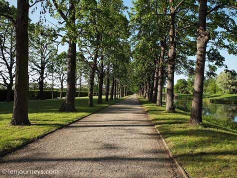 Tree-lined walkways in Herrenhausen Gardens