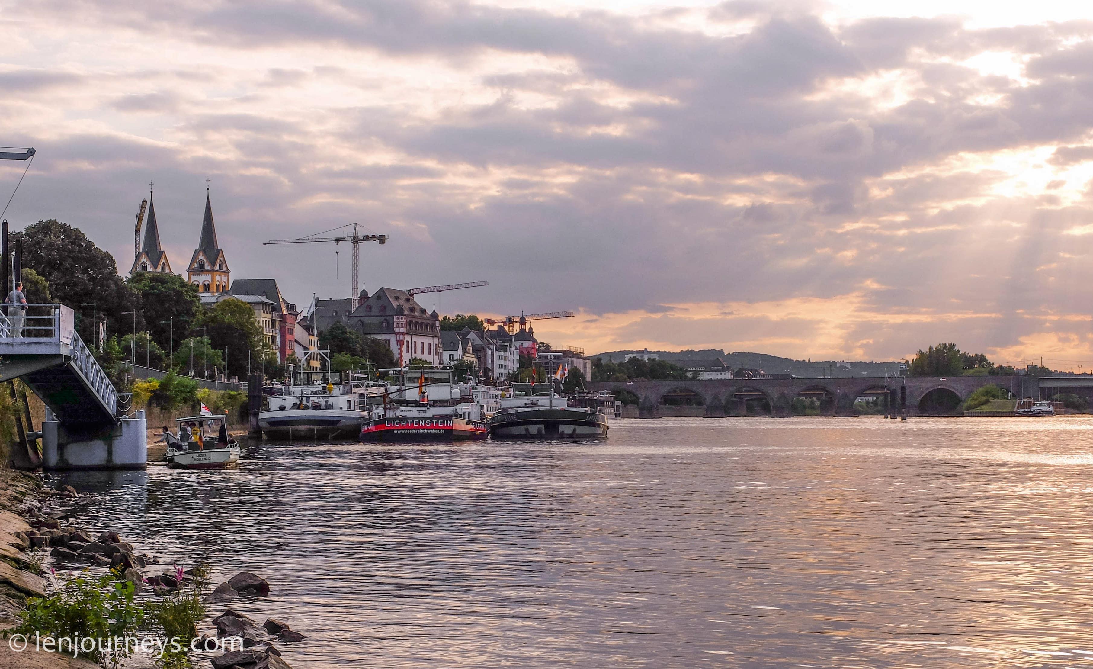 The Moselle running through Koblenz
