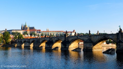 Charles Bridge in the early morning