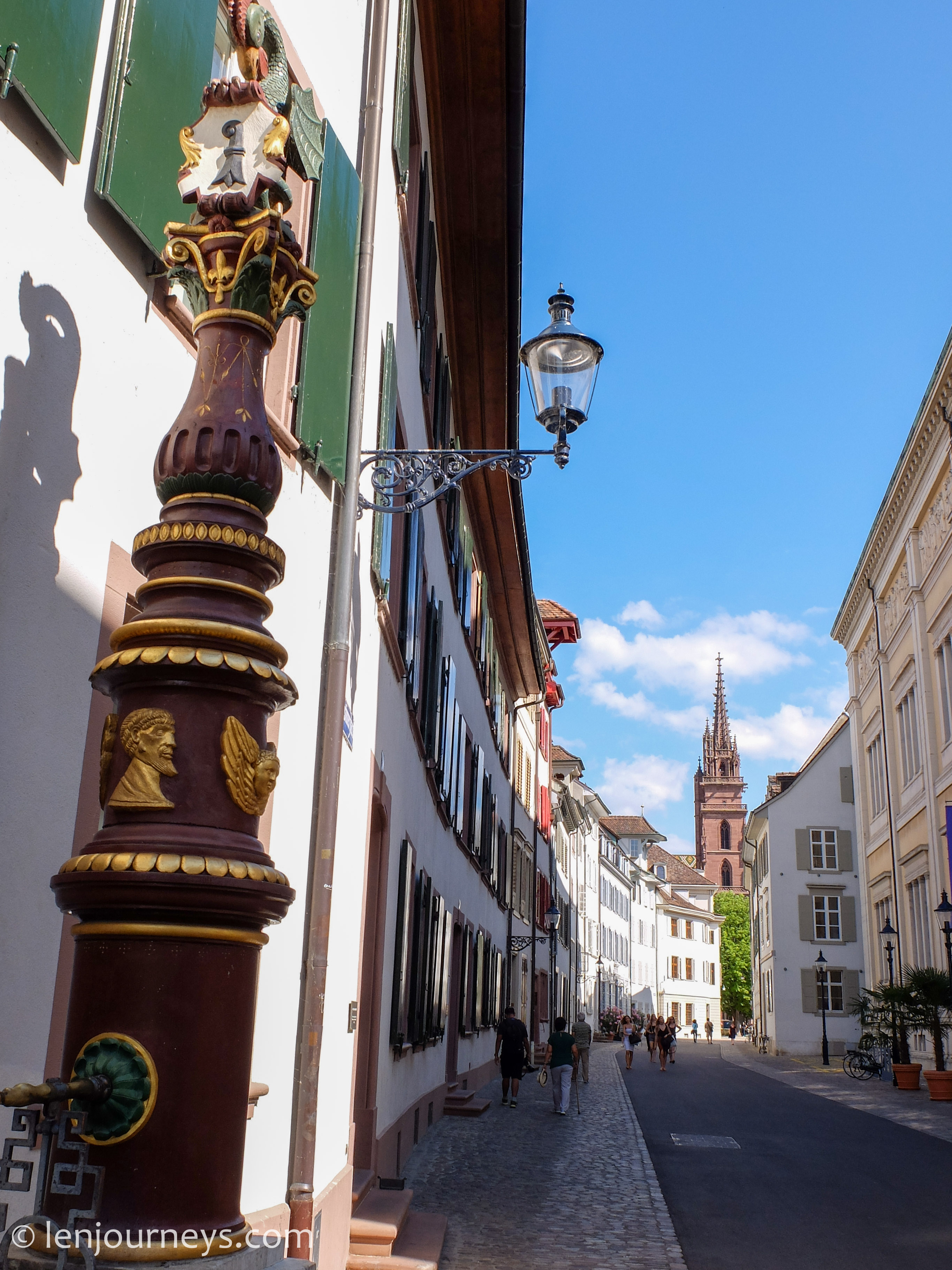 The street leading to the Cathedral