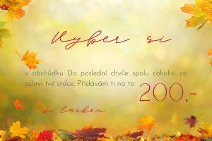 podzimní dárkový poukaz 200 Kč