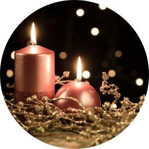 Adventní a vánoční svíčky