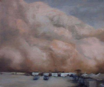 Sand Approaching - Al Asad Base 3, 2006