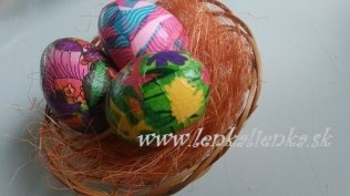 lepenie, vajíčka, kraslice, košík