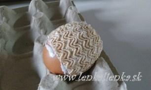 lepenie, stuha, vajíčko, kraslica, výroba