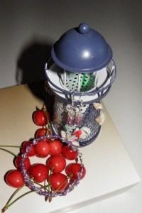 čarovať,sada, šperky, náušnice, náramok, maják, čerešne