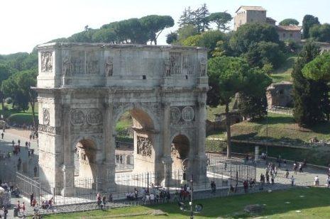 Konštantínov oblúk, Rím, Taliansko, lajfstajlový blog