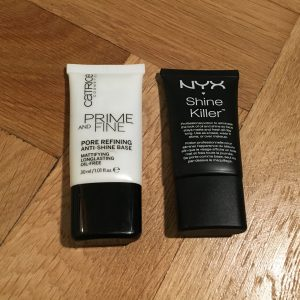 primer na tvár od Cartrice - Prime and Fine a NYX - Shine Killer