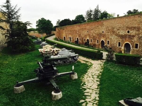 vojenské múzeum, Kalemegdan, Belehrad, Srbsko
