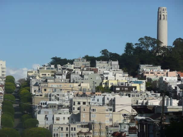 Coit Tower, San Francisco, Spojené Štáty Americké, USA