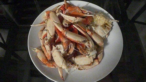 Doma uvarené kraby