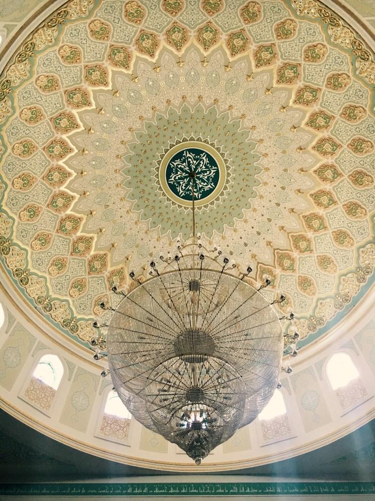 interiér mešity Hazret Sultan, Astana, Kazachstan