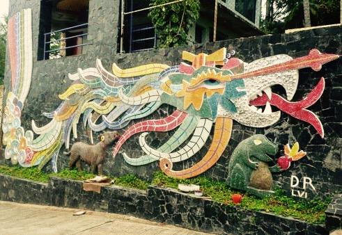 Diego Rivera murales, Acapulco, Mexiko, Quetzalcóatl