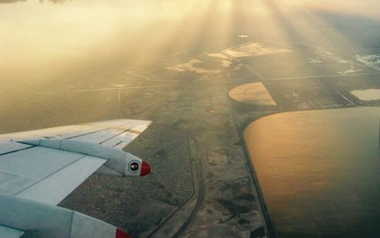 Mexico City, Mexiko, výhľad z lietadla