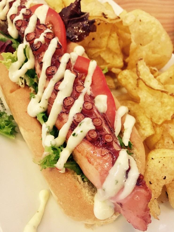 hot dog s chobotnicou, Portugalsko