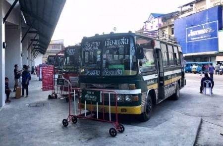 autobusová stanica, Chiang Rai, Thajsko