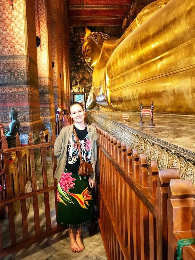 Ležiaci Budha, Reclining Buddha, Wat Pho, Bangkok, Thajsko, Lenka Says, LenkaSays, blog o cestovaní, cestovateľský blog, blog o životnom štýle, travel & lifestyle blog