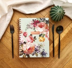 Fringe 17 month planner bouquet mint