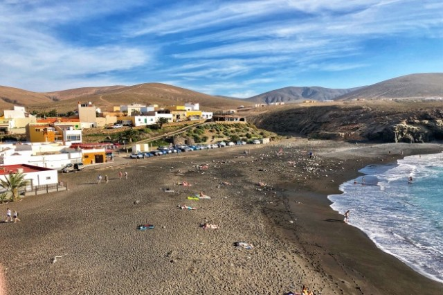 Playa de los Muertos, Ajuy, Fuerteventura, Kanárske ostrovy, Španielsko