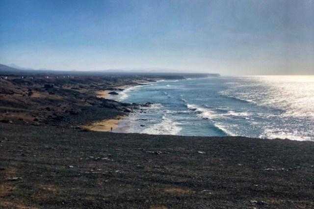 pláž v El Cotillo, Fuerteventura, Kanárske ostrovy, Španielsko