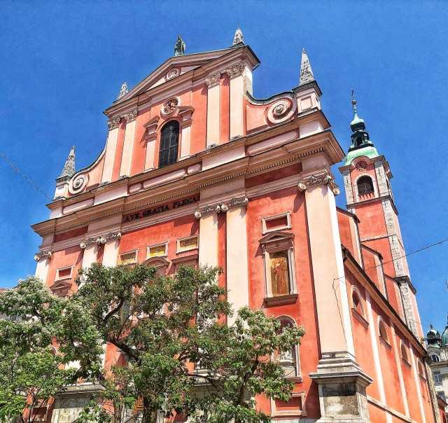 Ružový františkánsky kostol, Ľubľana, Slovinsko