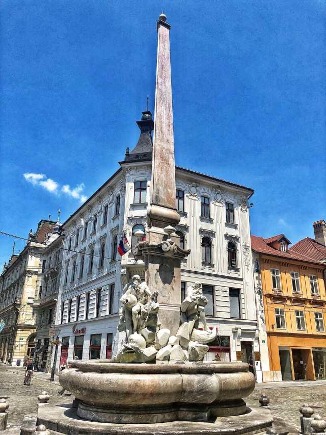 fontána pred radnicou, Ľubľana