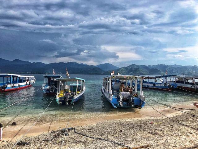 ostrov Gili Air s pohľadom na Lombok, ostrovy Gili