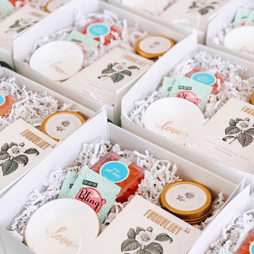 Len + McAddy Home Candle Co. custom wedding favors and corporate gifts