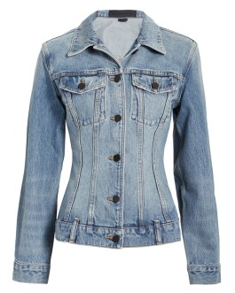 Factory OEM direct western style thin waist vintage plain cropped custom women jean denim jacket