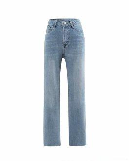 Wholesale fashion new style denim women skinny flare high waist jeans