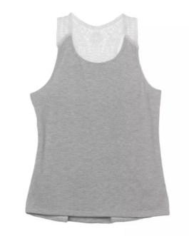 New Design Custom Women 100% Cotton Plain Gym Vest Tank Top