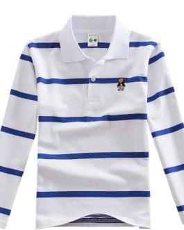 Hot new products striped t-shirt long sleeve polo shirt boys kids shirt boys comfortable