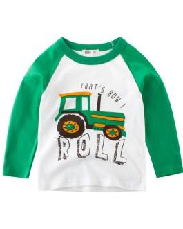 Anti-pilling feature and T-Shirts product type cheap kids t shirt 100% cotton Kids children tops cartoon long sleeve boy T-Shirt