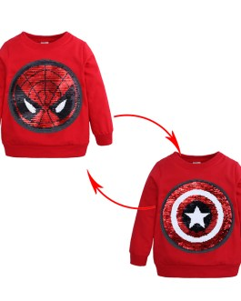 High quality comfortable 2020 new design wholesale new style fashion long sleeve with sequin casual boy kids child tshirts
