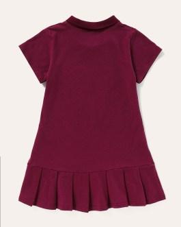 New Design Summer Girls Cotton Short Sleeve Polo Shirt Casual Children Girl Dress Collection