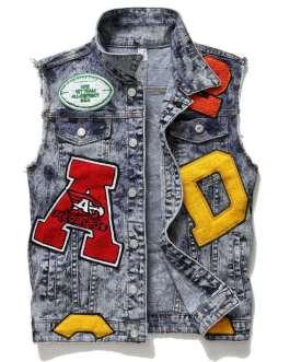 Custom Design Hip hop Streetwear Male Men Denim Jeans Jacket Collection