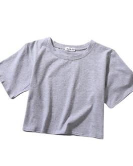 Blank Crop Top Tee Shirt Plain Summer Casual Wear Custom Print Design Short Sleeve Women T Shirt