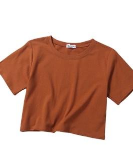 Crop Top Tee Shirt Plain Summer Casual Wear Custom Print Design Short Sleeve Women T Shirt