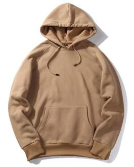 Street Style Custom Oversized Mens Hoodies Blank Plain Winter Jumper Men's Sweatshirt Pullover Hoodies