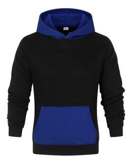 New Style Contrast Hood And Pocket High Quality Custom Printed Mens Hoodie Fleece Oversize Hoodies