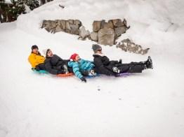 snow saucer train