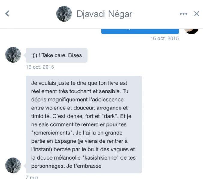 message Negar