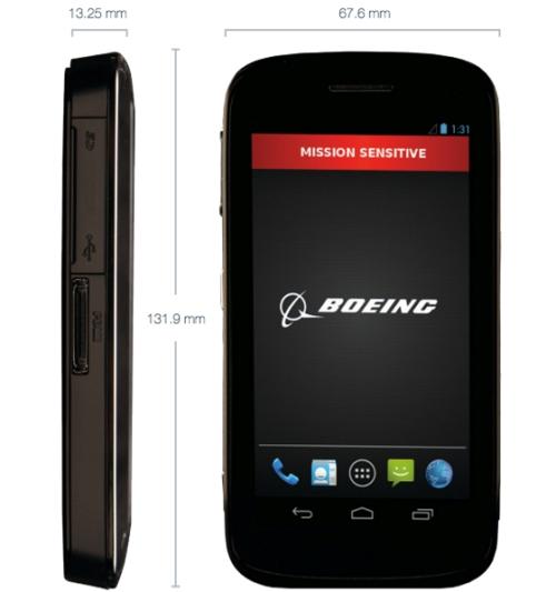 Smartphone Android ultraseguro da Boeing, isso mesmo aquela que fabrica avião
