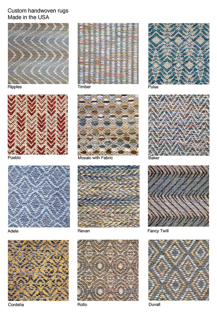 handwoven rugs textile samples