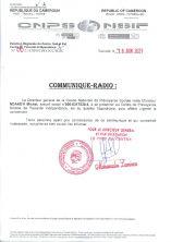 🇨🇲 Convocation de M. NDAKEYI Michel, assuré n°000-0317530-4, au CPS de Yaoundé-Indépendance