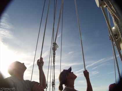raising the sails / provincetown, massachusetts