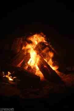 beach fire / provincetown, massachusetts