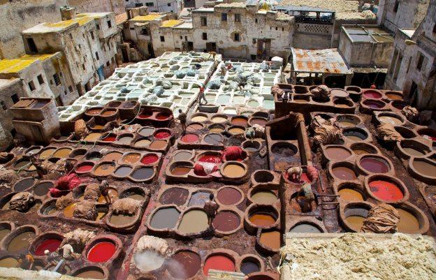 the dye pits / fés, morocco