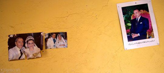 the king on the wall / ouirgane, morocco