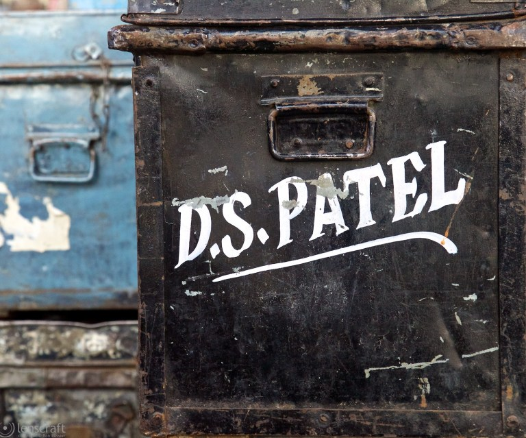 the luggage of a mr. d.s. patel, bandkui, india